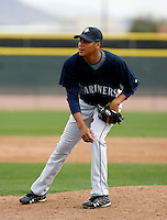 Luis Munoz -  Seattle Mariners - 2009 spring training.Photo by:  Bill Mitchell/Four Seam Images