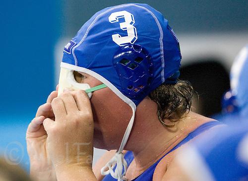 13 AUG 2008 - BEIJING, CHN - Elisa Casanova (ITA) - Preliminary Round Match USA (white) v Italy (blue) - Beijing Olympics. (PHOTO (C) NIGEL FARROW) *** IOC RULES APPLY ON USAGE ***