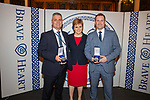Sgt John Smith and DC Craig McGarry who chased and apprehended two men carrying. Knives and a shotgun through a shopping centre, received the St Andrews medal tonight during an awards ceremony at Edinburgh Castle hosted by the First Minister for Scotland, the Right Honourable Nicola Sturgeon MSP. <br /> Pic Kenny Smith, Kenny Smith Photography<br /> Tel 07809 450119