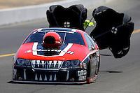 Jul. 27, 2013; Sonoma, CA, USA: NHRA pro stock driver V. Gaines during qualifying for the Sonoma Nationals at Sonoma Raceway. Mandatory Credit: Mark J. Rebilas-