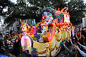 The  Bacchus Mardi Gras parade rolls through the streets of   New Orleans, Louisiana, USA 14 February 2010.