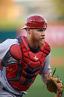 Louisville Bats catcher Chris Berset (10) during a game against the Buffalo Bisons on June 22, 2016 at Coca-Cola Field in Buffalo, New York.  Buffalo defeated Louisville 8-1.  (Mike Janes/Four Seam Images)