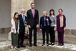 "Spanish king, Felipe VI and Antonio Fraguas de Pablo ""Forjes"" ,family after the Quevedos iberoamerican award of grafic humor 2014. May 26,2016. (ALTERPHOTOS/Rodrigo Jimenez)"