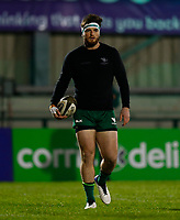 20th February 2021; Galway Sportsgrounds, Galway, Connacht, Ireland; Guinness Pro 14 Rugby, Connacht versus Cardiff Blues; Connacht centre Tom Daly during the warm up