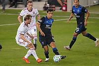 SAN JOSE, CA - OCTOBER 28: Oswaldo Alanis #4 of the San Jose Earthquakes during a game between Real Salt Lake and San Jose Earthquakes at Earthquakes Stadium on October 28, 2020 in San Jose, California.