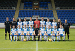 St Johnstone FC Season 2017-18 Photocall<br />Pictured back row from left, Stewart MacFarlane Sports Science, George Browning U20 GK Coach,Shaun Struthers, Ciaran Brian, Jack Wilson, Ross Sinclair, Ben Quigley, Callum Hendry, Daniel Jardine, Mel Stewart Physio and Alastair Stevenson Youth Development Manager.<br />Front row from left, Cameron Thomson, Alistair McCann, Cameron Ballantyne, Jamie Mackenzie, Alex Cleland U20 Coach, Cameron Lumsden, John Robertson, Jamie Docherty and Euan O'Reilly.<br />Picture by Graeme Hart.<br />Copyright Perthshire Picture Agency<br />Tel: 01738 623350  Mobile: 07990 594431