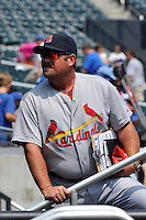 St. Louis Cardinals coach Derek Lilliquist #36 during a game against the New York Mets at Citi Field on July 21, 2011 in Queens, NY.  Cardinals defeated Mets 6-2.  Tomasso DeRosa/Four Seam Images