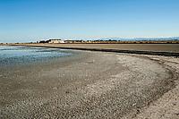 Saline di Cervia nel parco del delta del Po. Saline industriali