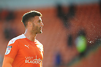 Blackpool's Gary Madine<br /> <br /> Photographer Kevin Barnes/CameraSport<br /> <br /> The EFL Sky Bet League One - Blackpool v Swindon Town - Saturday 19th September 2020 - Bloomfield Road - Blackpool<br /> <br /> World Copyright © 2020 CameraSport. All rights reserved. 43 Linden Ave. Countesthorpe. Leicester. England. LE8 5PG - Tel: +44 (0) 116 277 4147 - admin@camerasport.com - www.camerasport.com