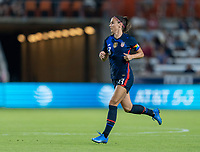 HOUSTON, TX - JUNE 13: Alex Morgan #13 of the USWNT runs during a game between Jamaica and USWNT at BBVA Stadium on June 13, 2021 in Houston, Texas.