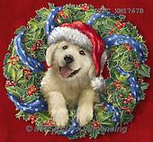 Marcello, CHRISTMAS ANIMALS, WEIHNACHTEN TIERE, NAVIDAD ANIMALES, paintings+++++,ITMCXM1767B,#XA# ,dogs,puppies ,christmas wreath