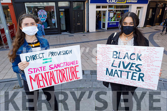 Judith Waugh and Fayth Esegbare attending the Black Lives Matter protest in Tralee on Saturday