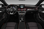 Stock photo of straight dashboard view of a 2018 Mercedes Benz GLA AMG 45 5 Door SUV