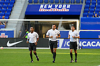 Harrison, NJ - Wednesday Aug. 03, 2016: Jairo Morales Garcia, Carlos Fernandez Castro, Javier Santos during a CONCACAF Champions League match between the New York Red Bulls and Antigua at Red Bull Arena.
