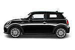 Car Driver side profile view of a 2021 MINI Mini-Electric Cooper-SE-Edition-mosaert 3 Door Hatchback Side View