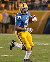 Pitt running back Qadree Ollison. The North Carolina Tarheels defeated the Pitt Panthers football team 34-31 at Heinz Field, Pittsburgh, Pennsylvania on November 9, 2017.