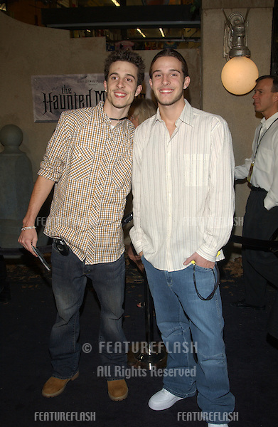 THE CONTI BROTHERS at the world premiere of The Haunted Mansion..November 23, 2003