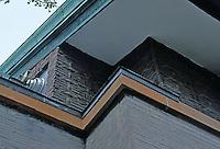 F.L. Wright: Dana House. Detail of glazed tile.  Photo '78.