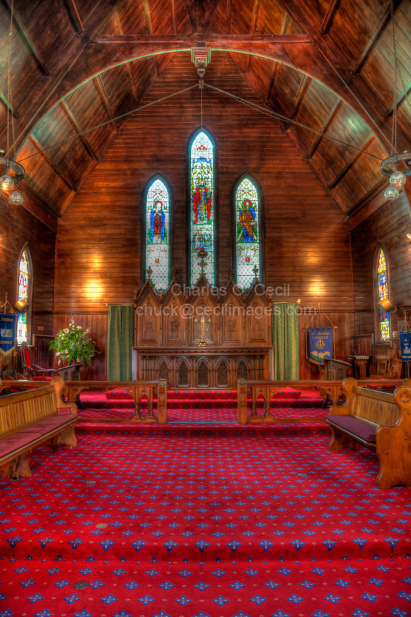 Interior, St. Andrew's Anglican Church, Cambridge, north island, New Zealand.