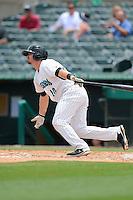 Jupiter Hammerheads third baseman Josh Adams (10) during a game against the Tampa Yankees on July 18, 2013 at Roger Dean Stadium in Jupiter, Florida.  Jupiter defeated Tampa 6-1.  (Mike Janes/Four Seam Images)