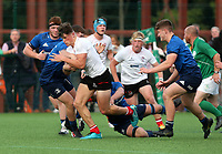 Saturday 5th September 2021<br /> <br /> Lukas Kenny scores during U18 Schools inter-pro between Ulster Rugby and Leinster at Newforge Country Club, Belfast, Northern Ireland. Photo by John Dickson/Dicksondigital