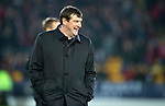 St Johnstone v Aberdeen…..24.11.19   McDiarmid Park   SPFL<br />All smiles for Tommy Wright after holding out for a draw with only nine men<br />Picture by Graeme Hart.<br />Copyright Perthshire Picture Agency<br />Tel: 01738 623350  Mobile: 07990 594431
