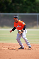 Miami Marlins Justin Twine (14) during a Minor League Spring Training game against the St. Louis Cardinals on March 26, 2018 at the Roger Dean Stadium Complex in Jupiter, Florida.  (Mike Janes/Four Seam Images)