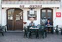 General view of Bar Centrale, Piazza Ernesto Capocci, Picinisco, Italy.