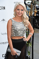 Chloe Paige<br /> arrives for the Amy Childs Summer Collection show at Beach Blanket Babylon, Notting Hill, London.<br /> <br /> <br /> ©Ash Knotek  D3129  06/06/2016