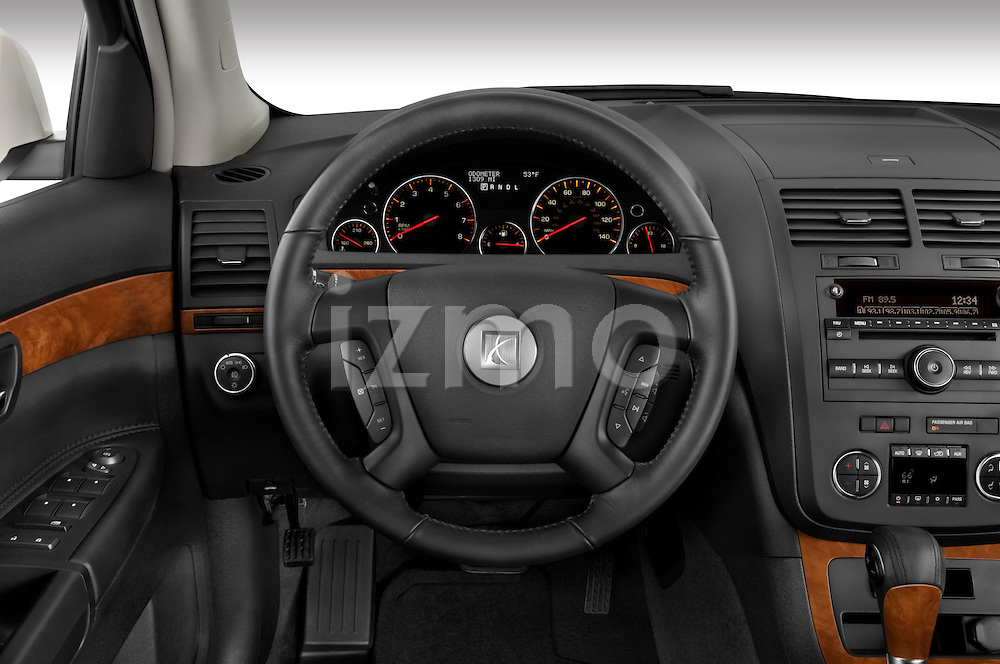 Steering wheel view of a 2008 Saturn Outlook XR