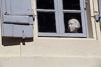 Europe/France/Poitou-Charentes/17/Charente-Maritime/Talmont: Détail fenetre d'une vieille maison