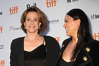 SIGOURNEY WEAVER AND MICHELLE RODRIGUEZ- RED CARPET OF THE FILM '(RE) ASSIGNMENT' - 41ST TORONTO INTERNATIONAL FILM FESTIVAL 2016 , 14/09/2016. # FESTIVAL INTERNATIONAL DU FILM DE TORONTO 2016 - RED CARPET '(RE)ASSIGNMENT'