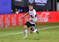 LAKE BUENA VISTA, FL - JULY 26: Jake Nerwinski of Vancouver Whitecaps FC runs down a ball during a game between Vancouver Whitecaps and Sporting Kansas City at ESPN Wide World of Sports on July 26, 2020 in Lake Buena Vista, Florida.