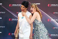 17/06/2017, Monte-Carlo, Monaco - 57th Monte-Carlo Television Festival TV Series Party at the Monte-Carlo Bay Hotel. Shohreh Aghdashloo and Odile Vuillemin. # 57EME FESTIVAL DE LA TELEVISION DE MONTE-CARLO - SOIREE 'TV SERIES PARTY'