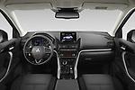 Stock photo of straight dashboard view of 2021 Mitsubishi Eclipse-Cross-PHEV Invite 5 Door SUV Dashboard