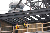 January 4 2004 File Photo, Montreal (qc) CANADA<br /> <br /> he new international jetty construction site at Montréal-<br /> Pierre Elliott Trudeau International Airport (YUL)<br /> <br /> (Mandatory Credit: Photo by  - Images Distribution (©) Copyright 2004 by Images Distribution