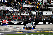 The #18 Kyle Busch wins the My Bariatric Solutions 300 at Texas Motor Speedway driving the Toyota Supra iK9 for Joe Gibbs Racing