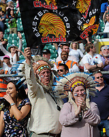 Exeter Chiefs' fans celebrate after winning the Premiership Rugby Final at Twickenham Stadium on Saturday 27th May 2017 (Photo by Rob Munro)