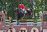 Meredith Little-Meredith and RF Rovano Rex clear the third fence during Stadium Jumping at the Dansko Fair Hill International 3-Day Event in Fair Hill, Maryland on October 16, 2011.