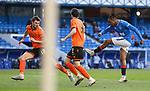 21.02.2021 Rangers v Dundee Utd: Joe Aribo scores goal no 3 for Rangers