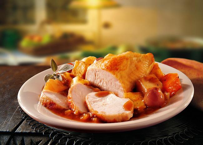 British Food - Roast Turkey Breast