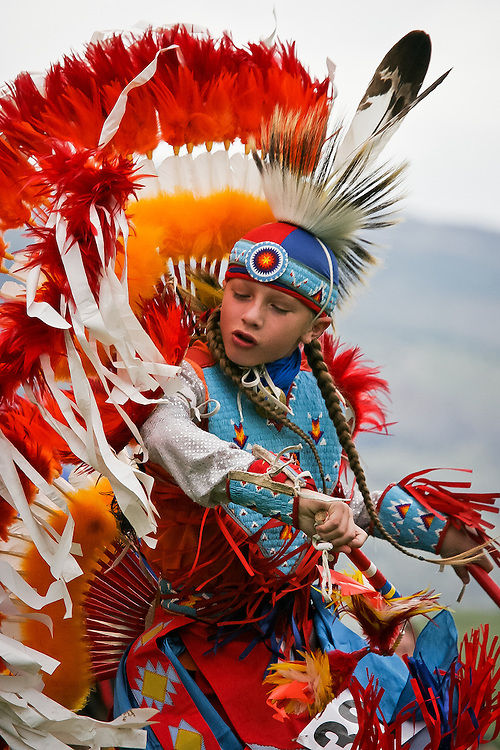 Powwow's are family gatherings. Children honored contributors, from the very young to teens.