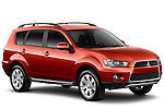 2010 Red Mitsubishi Outlander SUV Front 3/4 Angular View