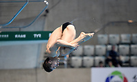 Ukraine's Oleg Kolodiy competes in the Men's 3m Springboard Semifinal A<br /> <br /> Photographer Hannah Fountain/CameraSport<br /> <br /> FINA/CNSG Diving World Series 2019 - Day 2 - Saturday 18th May 2019 - London Aquatics Centre - Queen Elizabeth Olympic Park - London<br /> <br /> World Copyright © 2019 CameraSport. All rights reserved. 43 Linden Ave. Countesthorpe. Leicester. England. LE8 5PG - Tel: +44 (0) 116 277 4147 - admin@camerasport.com - www.camerasport.com