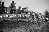 Patrick van Leeuwen (NLD) slippin' & slidin' at recon<br /> <br /> Bpost Bank Trofee - GP Mario De Clerq 2013