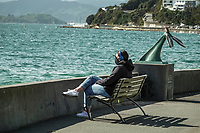 Freyberg Beach at lunchtime during Level 3 lockdown for the COVID-19 pandemic in Wellington, New Zealand on Sunday, 5 September 2021.
