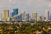 Ft. Lauderdale, Florida.  Skyline from Atlantic Boulevard.  Fully Saturated.