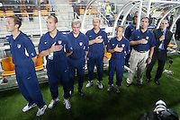 USA coaching staff during the national anthem. The USA lost to Germany 1-0 in the Quarterfinals of the FIFA World Cup 2002 in South Korea on June 21, 2002.