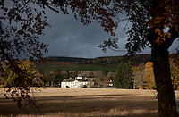 """Distant view of Foulis, described by a visitor in the eighteenth century as """"quite Elysian, a most charming site…and may truly be termed a Princely Seat."""""""