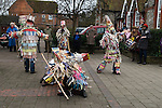 Overton Mummers Overton Hampshire UK Boxing Day Folk Play 2014. Overton Community Centre car park.